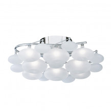 Dulcie Chrome Frosted Glass Pebble Ceiling Light