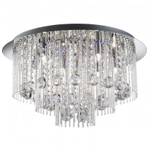 Beatrix LED Chrome Twisted Crystal Ceiling Light