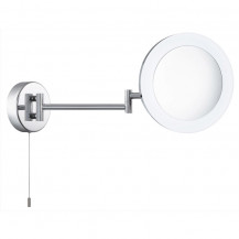 Chrome Illuminated Adjustable Mirror Light