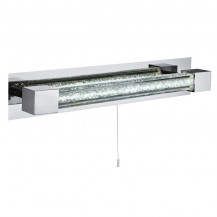 Chrome LED Clear Crystal Glass Bar Wall Light