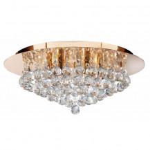 Hanna 6 Gold Clear Crystal Ceiling Light