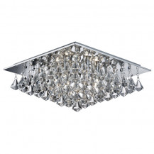 Hanna Square 6 Pyramid Crystal Ceiling Light