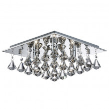 Hanna Square 4 Pyramid Crystal Ceiling Light
