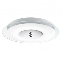 Chrome LED Flush Ceiling Light With Clear & Acid Glass Diffuser