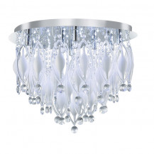 Spindle Remote Controlled Chrome 9 LED Flush Ceiling Light