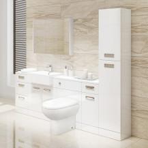 Cuba Toilet & Basin Left Hand Furniture Bathroom Suite