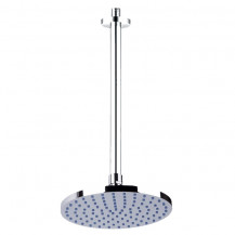 Cirk Round 180mm Shower Head & Ceiling Arm