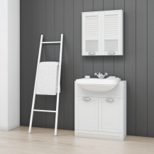 Nottingham White Semi Inset 1 Tap Hole Vanity Unit