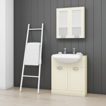 Nottingham Ivory Semi Inset 2 Tap Hole Vanity Unit