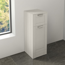 Nottingham White Single Door & Drawer Storage Unit