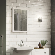 Nottingham White Framed Mirror 500(H) 700(W)