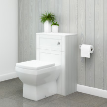 Nottingham White WC Unit with Tabor Back to Wall Toilet