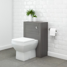 Nottingham Grey WC Unit with Tabor Back to Wall Toilet