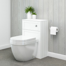 Nottingham White WC Unit with Aurora Back to Wall Toilet