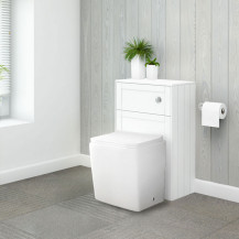 Nottingham White WC Unit with Voss Back to Wall Toilet