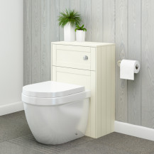 Nottingham Ivory WC Unit with Aurora Back to Wall Toilet
