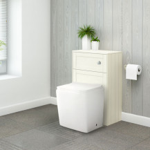 Nottingham Ivory WC Unit with Voss Back to Wall Toilet