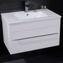 Aspen™ 75cm Wall Mounted White Vanity Unit
