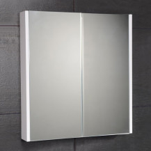 Windsor / Cuba / Aspen 60cm 2 Door Mirror White Cabinet