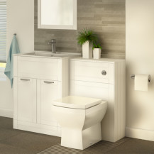 Nottingham 600 White Combination Unit with Tabor Back to Wall Toilet