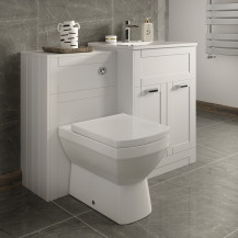 Nottingham 600 White Combination Unit with Back to Wall Toilet