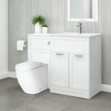 Nottingham 600 White Combination Unit with Venus Back to Wall Toilet