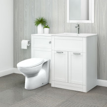 Nottingham 600 White Combination Unit with Sofia Back to Wall Toilet