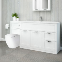 Nottingham 1000 White Combination Unit with Venus Back to Wall Toilet