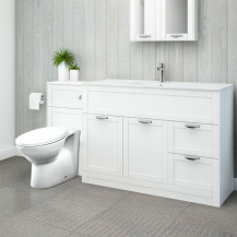 Nottingham 1000 White Combination Unit with Sofia Back to Wall Toilet