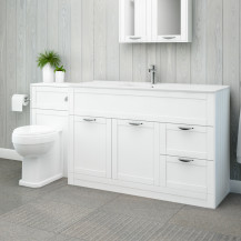 Nottingham 1000 White Combination Unit with Park Royal™ Back to Wall Toilet