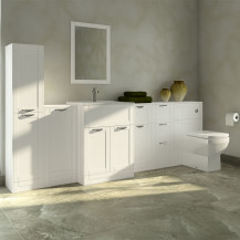 Nottingham White Furniture Bathroom Suite with Tabor Back to wall toilet