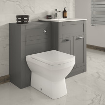Nottingham 600 Grey Combination Unit with Tabor Back to Wall Toilet