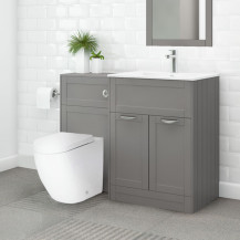 Nottingham 600 Grey Combination Unit with Venus Back to wall Toilet and Seat