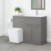 Nottingham 600 Grey Combination Unit with Voss Back to Wall Toilet