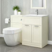 Nottingham 600 Ivory Combination Unit with Aurora Back to Wall Toilet