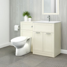 Nottingham 600 Ivory Combination Unit with Sofia Back to Wall Toilet