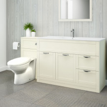 Nottingham 1000 Ivory Combination Unit with Sofia Back to Wall Toilet