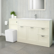 Nottingham 1000 Ivory Combination Unit with Voss Back to Wall Toilet