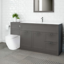Nottingham 1000 Grey Combination Unit with Venus Back to Wall Toilet and Seat