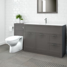 Nottingham 1000 Grey Combination Unit with Sofia Back to Wall Toilet