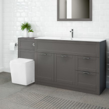 Nottingham 1000 Grey Combination Unit with Voss Back to Wall Toilet