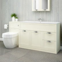 Nottingham 1000 Ivory Combination Unit with Aurora Back to Wall Toilet