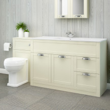 Nottingham 1000 Ivory Combination Unit with Park Royal™ Back to Wall Toilet