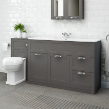 Nottingham 1000 Grey Combination Unit with Park Royal™ Back to Wall Toilet