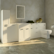 Nottingham Ivory Furniture Bathroom Suite with Tabor back to wall toilet