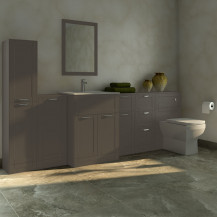 Nottingham Grey Furniture Bathroom Suite with Tabor back to wall toilet