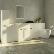 Nottingham Ivory Furniture Bathroom Suite with Aurora back to wall toilet