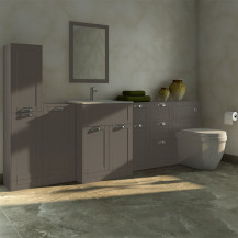 Nottingham Grey Furniture Bathroom Suite with Aurora back to wall toilet