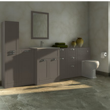 Nottingham Grey Furniture Bathroom Suite with Park Royal™ back to wall toilet
