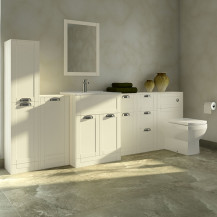 Nottingham Ivory 1000 Furniture Bathroom Suite with Tabor Back to Wall Toilet